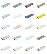 Ambesonne Nursery Bench Pad Hr Foam With Fabric Cover 45 X 15 X 2