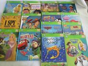 Lot Of 14 Leap Frog Tag Reading System Disney Story Books