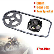 Motorcycle Scooter 47cc 49cc Drive System T8f Chain And 6t Gear Box Rear Sprocket
