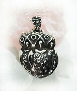 Xoxo 3 Owls Sterling Silver Pendant