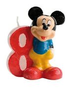 Disney Mickey Mouse Birthday Candle No. 8 - Party Cake Topper Decoration