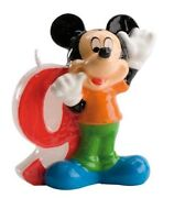 Disney Mickey Mouse Birthday Candle No. 9 - Party Cake Topper Decoration