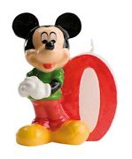 Disney Mickey Mouse Birthday Candle No. 0 - Party Cake Topper Decoration
