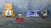 Kids Jewelry E.t. Pin Care Bear Pin Snoopy Ring Strawberry Short Cake Charm