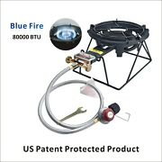 Outdoor Propane Burner Stove Camping Gas Stove Heavy Duty Cast-iron Stove W/rack