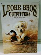 Yellow Lab Retriever Puppy Duck Decoy Leohr Outfitters Metal Sign Andcopy1996 Kaatz