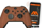 Wooden Xbox One Elite 2 Series Smart Custom Modded Controller.mods For Fps.cod