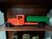 Vintage Steelcraft Pressed Steel Dmp Truck Toy Tin Toy Lot Usa Old Toy Truck