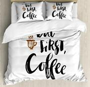 Coffee Duvet Cover Set Twin Queen King Sizes With Pillow Shams Bedding Decor