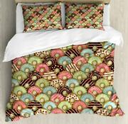Retro Tea Party Duvet Cover Set Twin Queen King Sizes With Pillow Shams