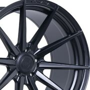 4 20 Staggered Rohana Rfx1 20x9 20x12 Black Concave Wheels Forged Rims A3