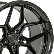 4 20 Staggered Rohana Rfx11 20x9 20x10.5 Black Concave Wheels Forged A3