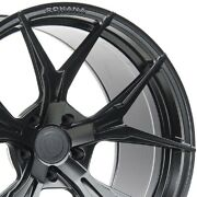 4 20 Staggered Rohana Rfx5 20x9 20x12 Black Concave Wheels Forged Rims A3