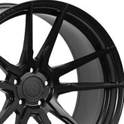 4 20 Staggered Rohana Rfx2 20x9 20x12 Black Concave Wheels Forged Rims A3