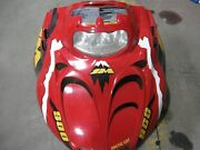 Complete Hood W/decals And Headlight Assembly Red Arctic Cat Mountain Cat 900efi