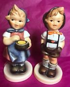 2 1992 Hummel Goebel Figurines 629 'from Me To You' And 630 'for Keeps'