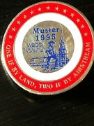 Vintage Collectible Muster 1995 Airstream Wbcci Rally Colorful Metal Pinback