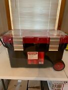 Craftsman 27 Mobile Tool Chest Sturdy Portable Rolling Tool Box With Wheels
