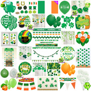St. Patricks Day Decorations Balloons Banner Bunting Flag Prop Tinsel Confetti☘️