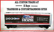 Lionel O Scale 3 Rail Custom Lettered Trump Train Collectible Reefer Lot 2020