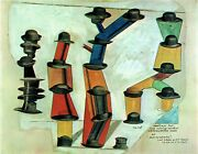 Max Ernst-itandrsquos The Hat That Makes A Man Poster Or Canvas Premium A4-a0