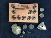 Lot Of 20 Pieces Ww2 Usmc Eagle Globe Anchor Pins Buttons And Money Clip