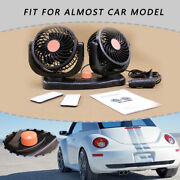 24v 360° Rotatable Portable Vehicle Truck Auto Cooling Cold Dual Head Car Fan