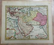 Middle East Arabian Empire 1742 By Hase -homann Hrs Nice Antique Map 18e Century
