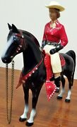 Hartland Rare Red Shirt Champ Cowgirl Horse Hat And Saddlevintage Western Toys