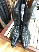 Black Jack Hand Made Horn Back Alligator Crocodile Western Boots New
