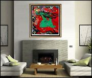 Jiang Tie Feng Emerald Lady Large Serigraph Hand Signed Sculpture Bronze Artwork