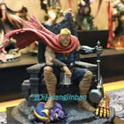 Thor Resin Model Painted Statue In Stock Throne Figure Collection Sculpture New