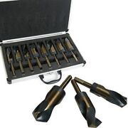 8 Piece Jumbo Size Silver And Deming Large Metal Drill Bit Set