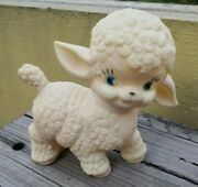 Vtg Rare Mexican Lili Ledy Rubber Happy Lamb Squeaky Toy Squeaks Mexico