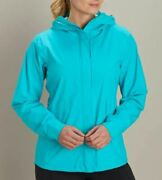 New Duluth Trading Company Womenand039s Stash Factor Stretch Rain Jacket Nwt