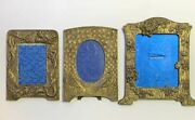 Set Of 3 Antique Japanese Antimony Picture Frames