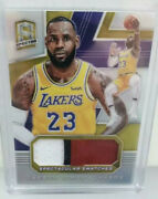8/10 Gold Prizm Refractor Lebron James Spectacular Swatches Gu Jersey Patch Mint
