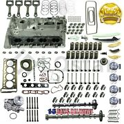 Engine Cylinder Head And Gasket And Piston Ring Repair Kit For Vw Cc Audi A3 2.0t