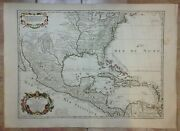 Mexico United States 1783 Guillaume Delisle Unusual Large Antique Map