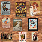 Metal Tin Poster Signs Beer Pub Man Cave Indoor Vintage Mounted Wall Plaques