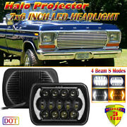 For Ford Truck F-150 1975-1991 F-250 Led Headlight With Drl Amber Turning Signal