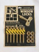 Vintage New Fayle-safe Maximum Security Window Locks For 6 Wood Windows 1978 A3