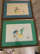 Disney Donald Duck Production Cell And In Sequence W A Dragon