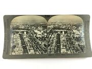 29565 Looking Down Upon Boston Mass From An Airplane Keystone Stereoview M014