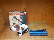 Vintage Marx Japan Tin Battery Op Toy Remote Control Rc Dog In Box Tin Toy Lot