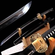 Japanese Battle Sword Jihada Forged Pattern Steel Blade With Clay Tempered 397