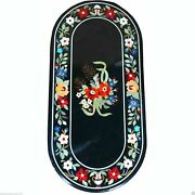 18x36 Marble Handmade Table Antique Elite Furniture Rare Inlay Mosaic Home 917
