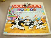 Monopoly Junior Board Game 1995 Parker Brothers Ages 5-8 2-4 Players-complete