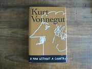 Kurt Vonnegut, A Man Without A Country 2005 Signed And Original Drawing
