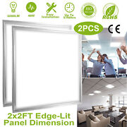 48w 2x2 Ft Panel Led Ceiling Light Recessed Drop Flat Light Troffer Home Fixture